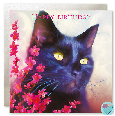 Black Cat Birthday Cards Mum Sister Nan Special Friend Get Well Soon Good - Black Cat Birthday
