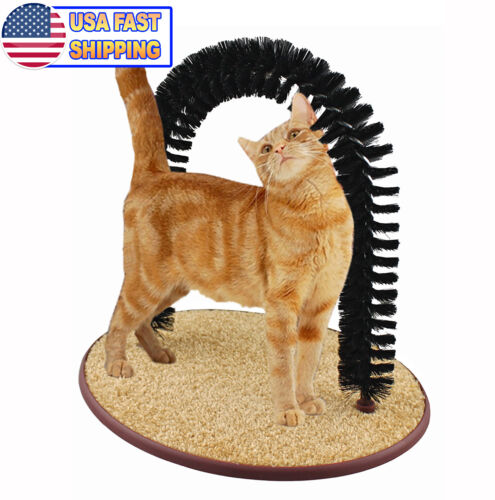 Perfect Cat Self Scratching And Grooming Arch Toy Cat Self Brushing Deshedding