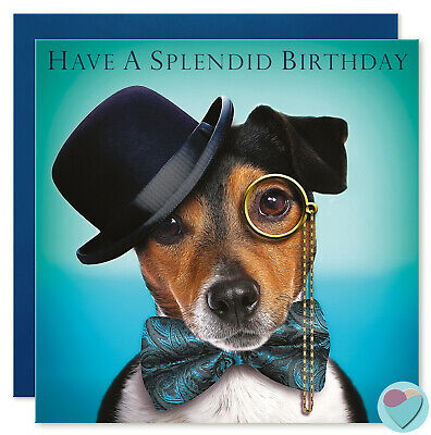 Funny Dog Birthday Card Men Women Boys girls to or from Jack Russell Dog Lover