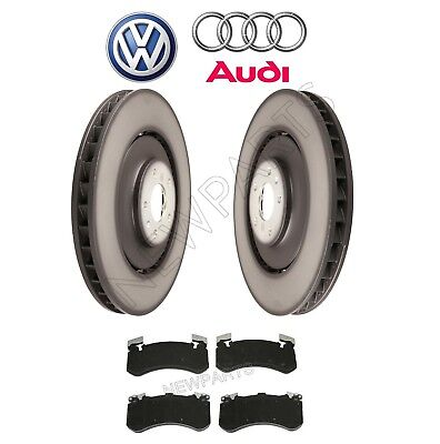 Front Disc Brake Pad Set & 400mm Two Disc Rotors Kit Genuine For Audi S6 S7 S8