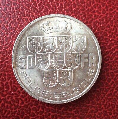 Belgique - Rare Magnifique 50 Francs1940 VL Pos.A  - variété Triangle