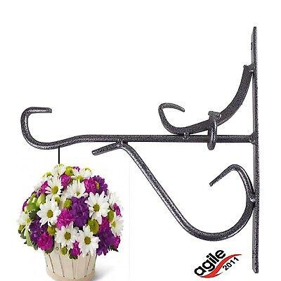 Wandhalter Metall Garten Wandhalterung für Blumen Wandhaken Blumenampelhalter