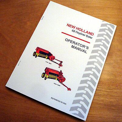 New Holland 68 Baler Hayliner Operators Owners Book Guide Manual Nh