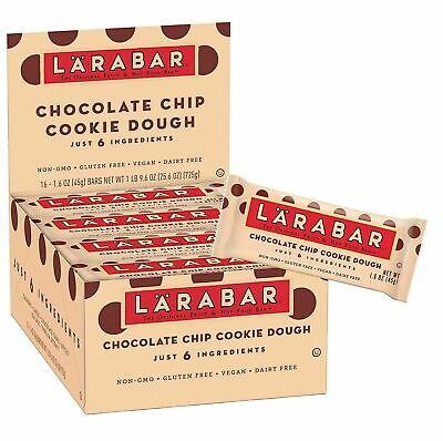 Larabar Chocolate Chip Cookie Dough Gluten Free, vegan  16 - 1.6oz Bars Gluten Free Cookie Dough