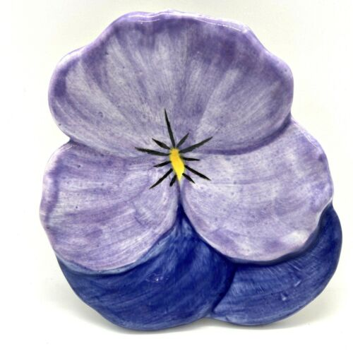 Stangl Hand Painted Pansy Dish In Purple And Blue