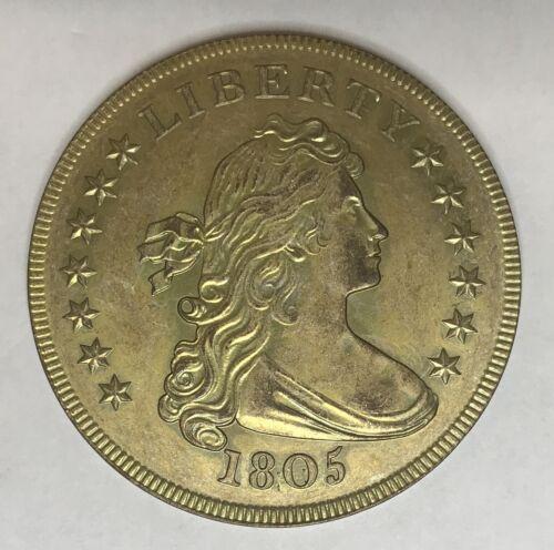 1805 Draped Bust Silver Dollar Overstrike Circ Finish Daniel Carr 72 Minted  /5