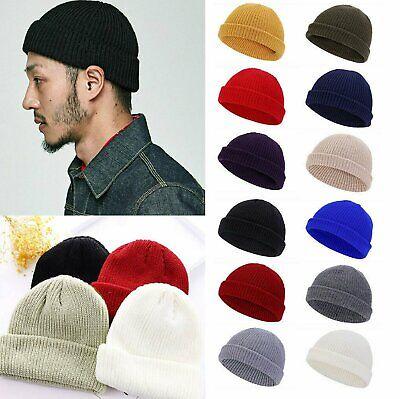 Cuff Beanie Knit Hat Cap Slouchy Skull Ski Men Women Plain Winter Warm Hats Clothing, Shoes & Accessories