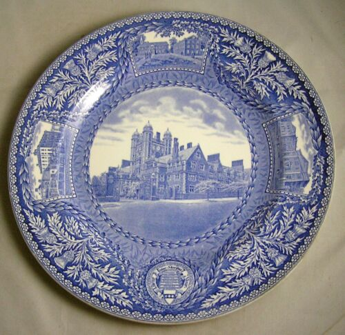1929 Wedgwood University of Pennsylvania ENTRACE TO DORMITORIES Blue Plate