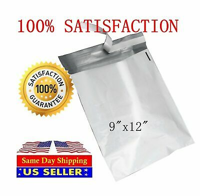400 9x12 White Poly Mailer Self Sealing Shipping Envelopes Bags - St Shipmailers