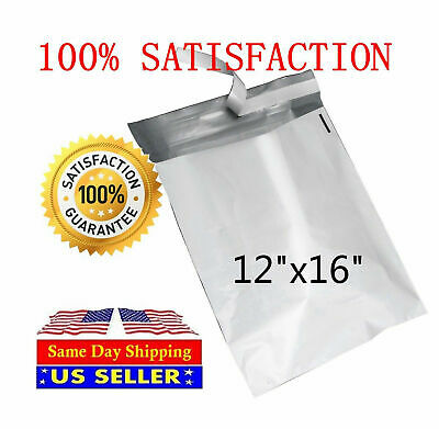 200 12x16 White Poly Mailers Envelopes Bags 12 X 16- St Shipmailers