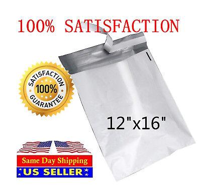 100 12x16 White Poly Mailer Self Sealing Shipping Envelopes Bags-st Shipmailers
