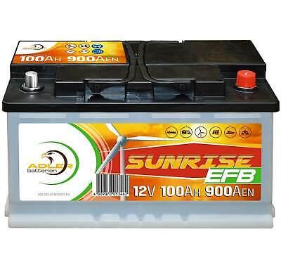 Adler EFB Solarbatterie 12V 100Ah USV Solar Boot Camping Versorgung Batterie