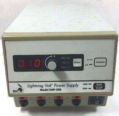 Owl Osp-300 Lightning Volt Electrophoresis Power Supply 10 To 300 Vdc