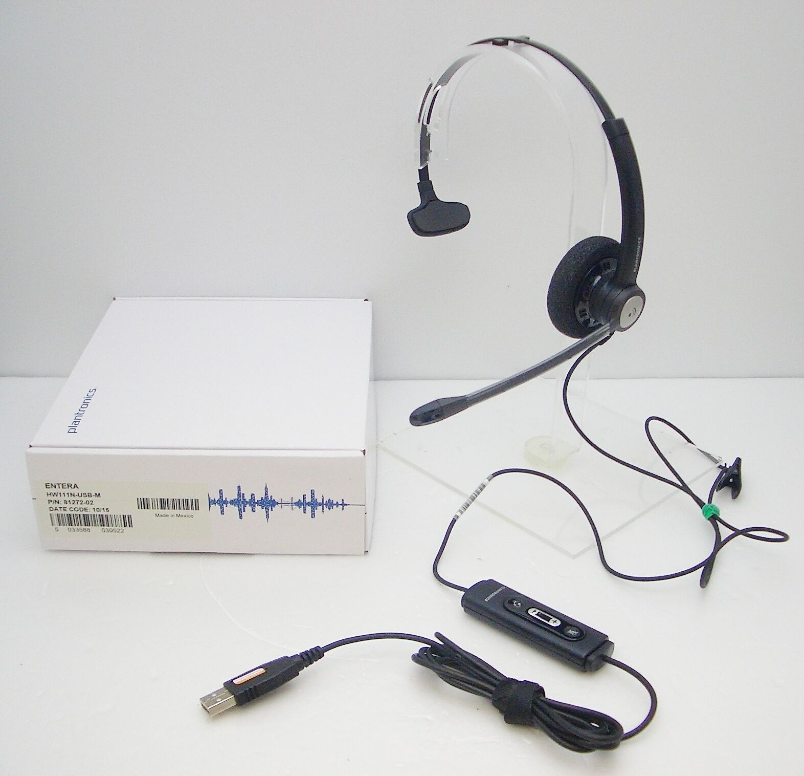 Lot of 2 Plantronics Blackwire C210 Monaural USB Computer Headset for Skype Chat
