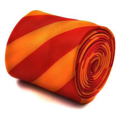 Frederick thomas Designer Uomo Cravatta - Rosso e Luminoso Arancione - Repp Club