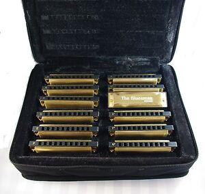 Bluesman Vintage Harmonica Boxed sets of 3, 7 or 12 harmonicas