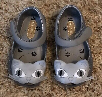 NWOT Toddler 5 Mini Melissa Silver Cat Sparkly Mary Jane Shoes