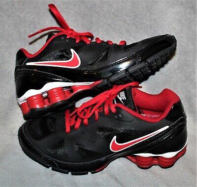 Nike Boys Black Red Shoes Size 6Y 5Y Shox