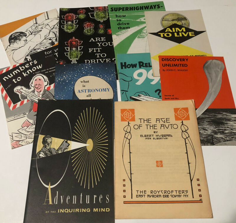 GM Booklet Lot Published For GM Men Women Auto Science Safety 50's Ephemera 10