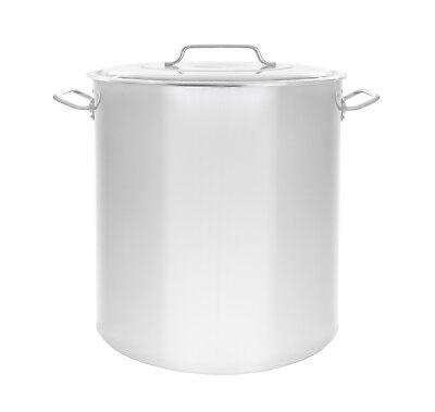 100 Quart Stock Pot - NEW 100 QT Quart Polished Stainless Steel Stock Pot Brewing Kettle Large w/ Lid