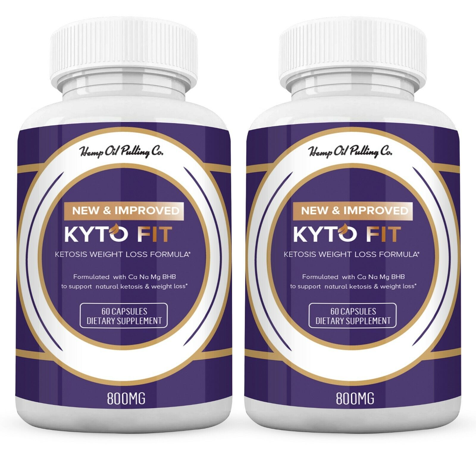 (2 Pack) Kyto Fit Pills 800mg, Kyto Fit Diet Pills Capsules BHB Supplement