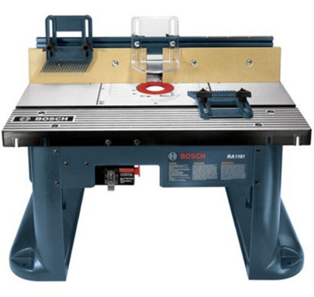 Bosch ra1181 benchtop router table ebay bosch ra1181 aluminum mounting plate benchtop router table mdf face plates greentooth Gallery
