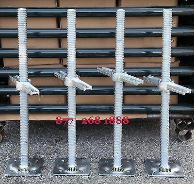 Cbmscaffold.com 4 New Scaffolding 24 Galvanized Screw Jack Wbase Plate