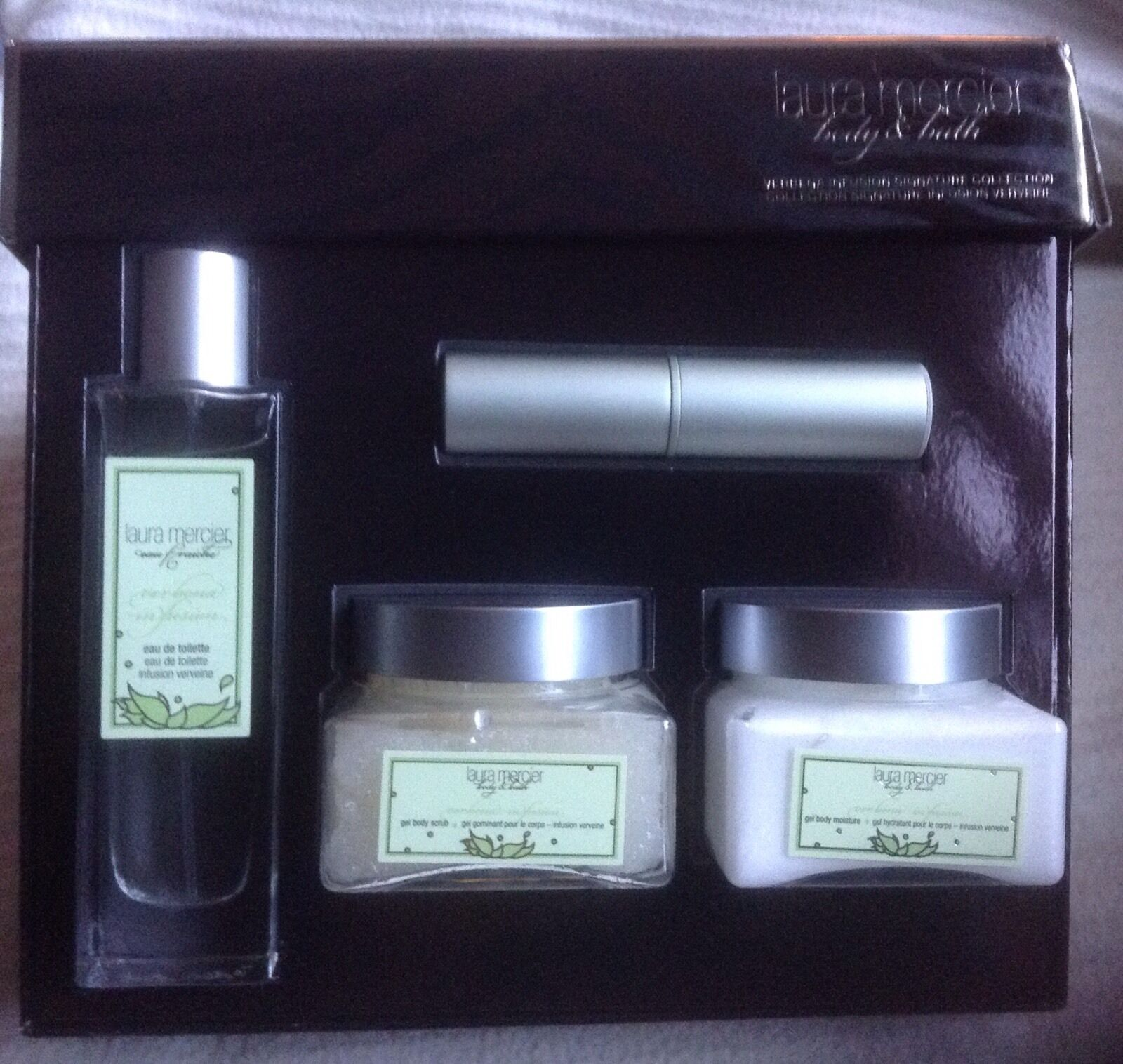 Laura Mercier Verbena Infusion 4 PC Set Verbene Fragrance Lo