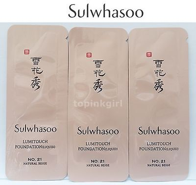 Sulwhasoo Lumitouch Foundation (LIQUID) No.21 Natural Beige 30pcs New Amore