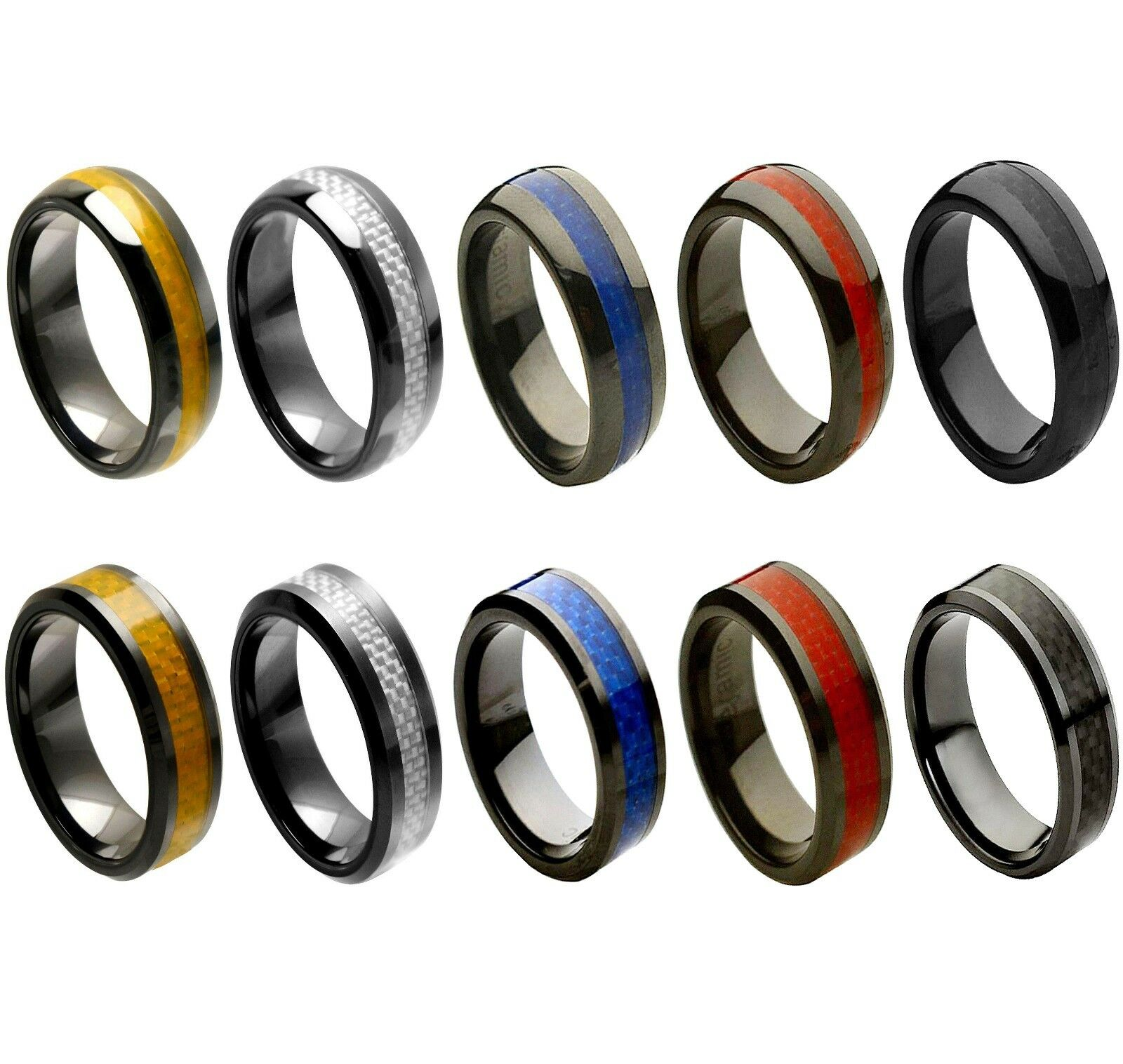 men s ceramic wedding ring classic comfort