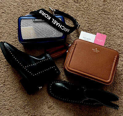 Lot of 2 Bags Michael Kors, Coach And 6.5 Boots