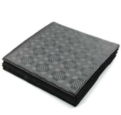 Black Paper Tablecloths (Black Paper Table Cloths 5 10 15 20 25 Party Tablecloths Covers Damask Dispo)