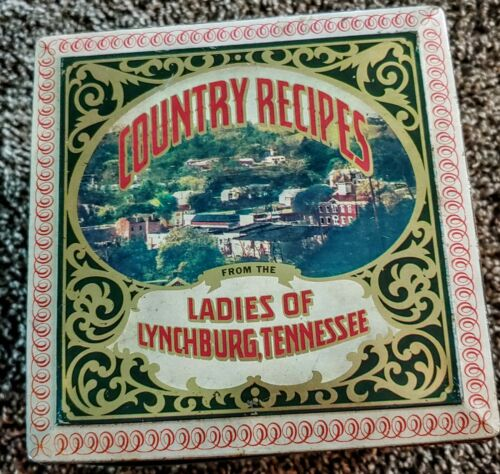 LADIES OF LYNCHBURG TENNESSEE COUNTRY RECIPIES - HINGED TIN RECIPE BOX FILE 70