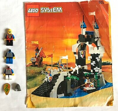 Vintage Lego Knights & Castles Manual 6078  Green Dragon Shield Knight Minifigs
