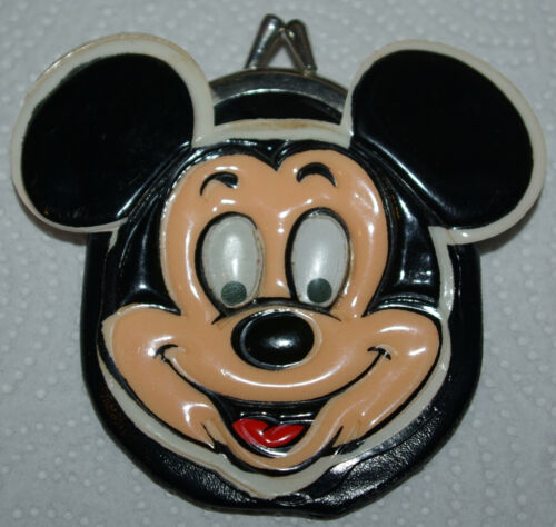 Vintage Mickey Mouse Disney Snap Coin Change Purse Licensed