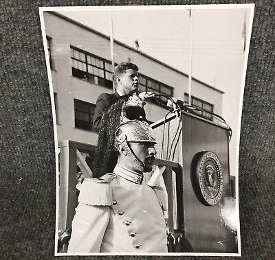 Vintage President John F Kennedy In Naples Italy Original Press Photo E17