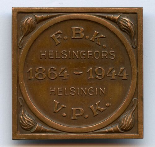 Finland Firefighter Badge Helsinki Fire Brigade 80 Year 1944 Pin Nice !!!