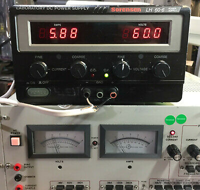 Sorensen Lh 60-6 Variable Dc Power Supply 0-60v 0-6a 360w - Load Tested