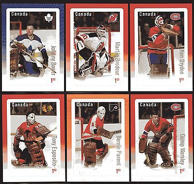2015 CANADA SC 2873-78 NHL HOCKEY GREAT CANADIAN GOALIES SET OF 6  M-NH S.S.