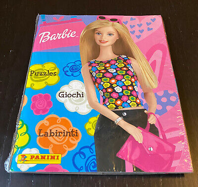 BARBIE PANINI - FACTORY SEALED EMPTY ALBUM + ALL STICKERS - NEW!