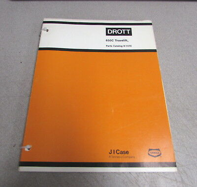 Case Drott 650c Travelift Parts Catalog Manual 8-1470 1980