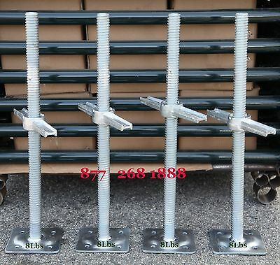 Cbm Scaffold 40 New Scaffolding 24 Galvanized Screw Jack Wbase Plate