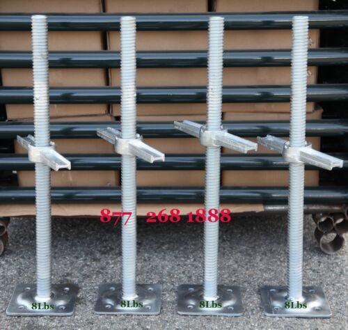 """CBM Scaffold 4 New Scaffolding 24"""" Galvanized Screw Jack w/Base Plate"""