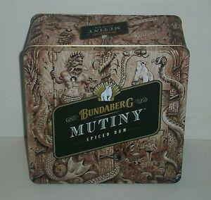 Bundaberg Bundy Rum brand new Mutiny tin with lid for home bar pub collector