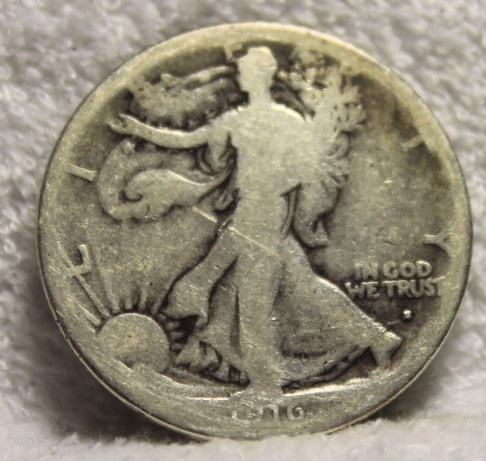 1916S Walking Liberty Half Dollar - $65.95