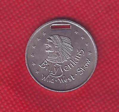 Billy Jenkins Original Medaille Plakette Wild West Show 40er 50er Jahr Abzeichen