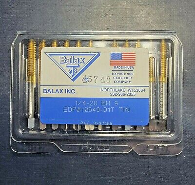 Balax Unused Package Of 12 14-20 B H9 Tin Bottom Forming Right Hand