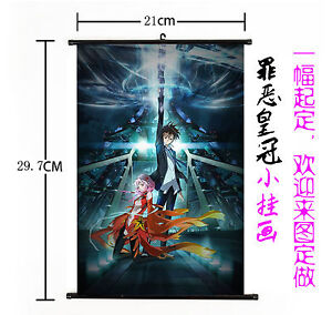 Hot Anime guilty crown Wall Poster Scroll Home Decor Cosplay 563