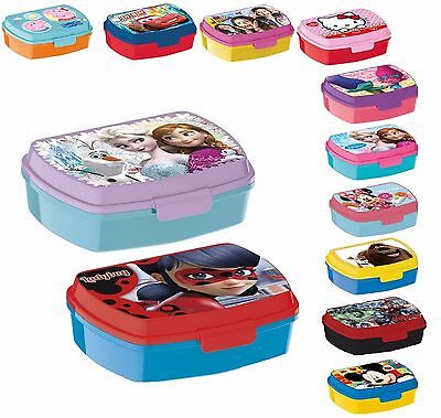 LUNCH BOX scatola colazione porta PRANZO MERENDA sandwich scuola,asilo bambini