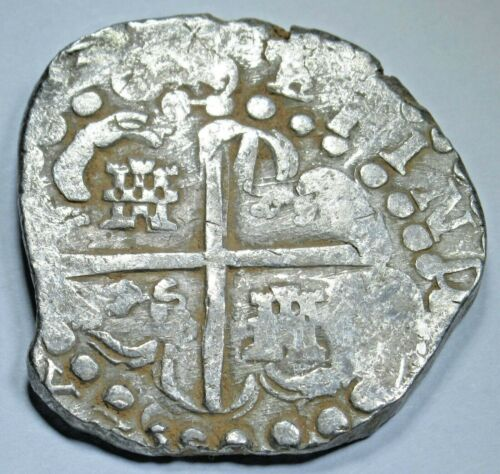 1629 Porto Bello Hoard Spanish Silver 8 Reales Colonial Dollar Pirate Cob Coin